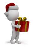 3d małych prezentów Santa ludzie Fotografia Stock