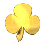 3D made - shamrock in gold Stock Images