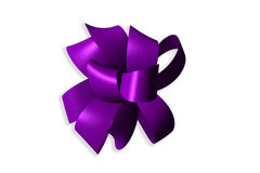 3D Magenta Ribbon Bow Royalty Free Stock Photos