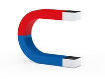 3d magnet red blue Stock Image