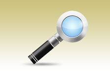 3D Magnifier. Illustration. Search icon Royalty Free Stock Photography
