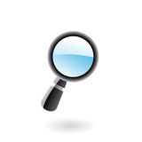 3d magnifier Royalty Free Stock Images