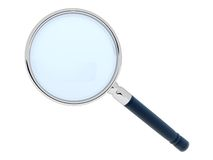 3D magnifying glass Stock Images