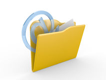 3D mail folder Royalty Free Stock Photography