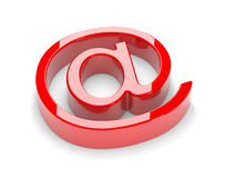3d mail sign Stock Photography