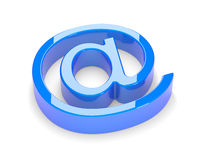 3d mail sign. On a white background stock illustration