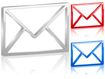 3D mail symbol. Set. Vector illustration Royalty Free Stock Photos