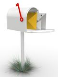 3D mailbox Stock Photos