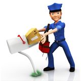 3D mailman Stock Images