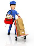 3D mailman Royalty Free Stock Images