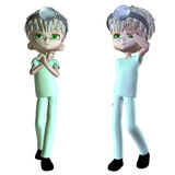 3d male doctor Royalty Free Stock Photos