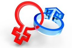 3d male female symbol Stock Image