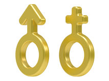 3d Male And Female Symbols Stock Image