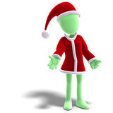 3d male icon toon character as Santa Claus Royalty Free Stock Image