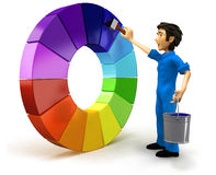 3D male painter Royalty Free Stock Photography