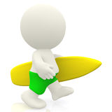3D Male surfer Royalty Free Stock Images