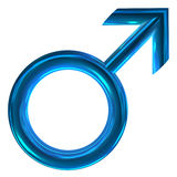 3D male symbol Stock Image