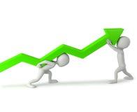 3d mali ludzie - podnosi statystyki. ilustracja wektor
