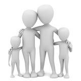 3d mali ludzie - rodzina. ilustracji