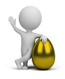 3d mali ludzie - złoty jajko Zdjęcie Stock