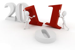3d man 2011, happy new year! Stock Image