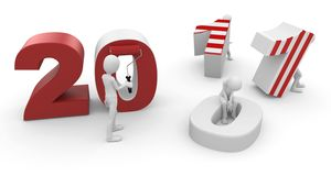 3d man with 2011 numbers Royalty Free Stock Image