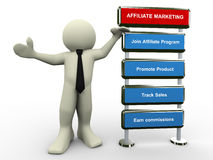 3d man affiliate marketing Royalty Free Stock Images