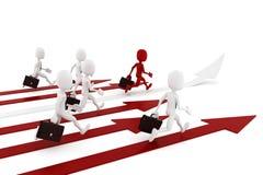 3d man on arrow-competition concept. 3d man on arrow - competition concept Stock Image