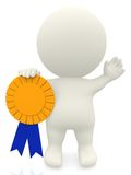 3D man with an award Royalty Free Stock Images