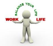 3d Man - Balance Your Life Royalty Free Stock Photo