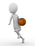 3D man with basketball Stock Images