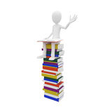 3d man with books Stock Image
