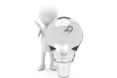 3d man bulb concept Stock Images