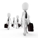 3d man business concept Stock Photos