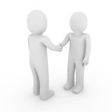 3d man business handshake. Isolated white background Stock Photo