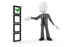 3d man business man and check list Stock Photo