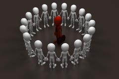 3d man business man team work concept Stock Photography