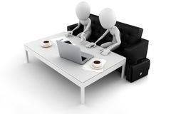 3d man business man team work concept Stock Image