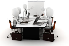 3d man business meeting Stock Photo