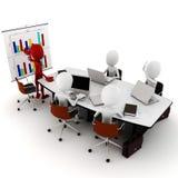 3d man business meeting Royalty Free Stock Photos