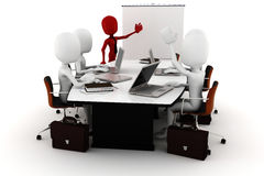 3d man business meeting Royalty Free Stock Images