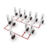 3d man business network. On white background Stock Image