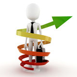3d man business success concept Royalty Free Stock Photo