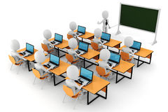 3d man - classroom Royalty Free Stock Image