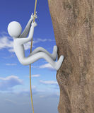 3d man climbing mountain Royalty Free Stock Photography