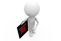 3d man clipboard concept Royalty Free Stock Image
