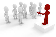 3d man conference Stock Images