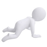 3d man crawling on his knees Royalty Free Stock Photos