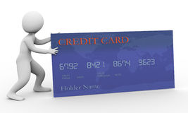 3d man and credit card Stock Image