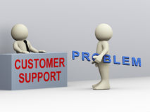 3d man and customer support Royalty Free Stock Photo